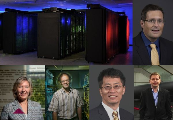 NSF supercomputer award composite image